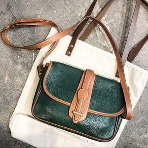 Vintage Hunt Club Green Leather Satchel